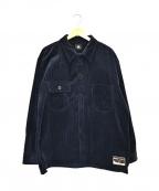 Paul Smith RED EAR(ポールスミスレッドイヤー)の古着「オーバーサイズコーデュロイシャツジャケット」|ネイビー