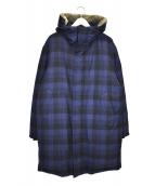 Paul Smith(ポールスミス)の古着「ブロックチェックダウンコート」|ブルー×ブラック