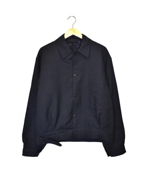 COMOLI(コモリ)COMOLI (コモリ) ウールサージベルテッドジャケット ネイビー サイズ:3 参考定価¥48.000+税 Q03-01009の古着・服飾アイテム