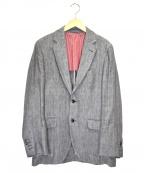 HACKETT(ハケット)の古着「リネンヘリンボーンテーラードジャケット」 グレー