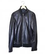 Shama(シャマ)の古着「シングルカウレザージャケット」 ブラック