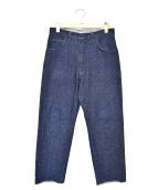 UNUSED(アンユーズド)の古着「シルク混ネップデニムパンツ」|インディゴ
