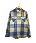 VISVIM(ヴィスヴィム)の古着「チェックシャツ」|ベージュ×ブルー