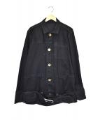 Maison MIHARA YASUHIRO(メゾンミハラヤスヒロ)の古着「ベルテッドブラックデニムジャケット」|ブラック