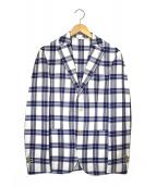 L.B.M.1911(エルビーエム1911)の古着「コットンリネンサマーツイード2Bジャケット」|ホワイト×ブルー