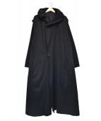 YohjiYamamoto pour homme(ヨウジヤマモトプールオム)の古着「そこを通してくださいフードーコート」|ブラック