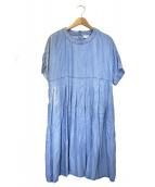 Jocomomola(ホコモモラ)の古着「リヨセルタックデニムAラインスカート」 インディゴ