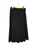 Y's(ワイズ)の古着「サイドジップミディスカート」|ブラック