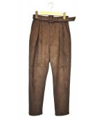 MAISON SPECIAL(メゾンスペシャル)の古着「Fレザーパンツ」|ブラウン