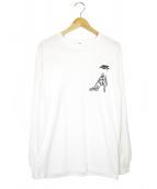TOGA VIRILIS(トーガ ヴィリリース)の古着「プリントロングスリーブカットソー」 ホワイト