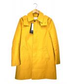 TOMORROW LAND(トゥモローランド)の古着「ピースダイステンカラーコート」|イエロー
