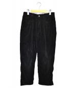 WESTOVERALLS(ウエストオーバーオールズ)の古着「ストレートコーデュロイパンツ」|ブラック