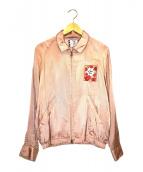 SON OF THE CHEESE(サノバチーズ)の古着「ハオトゥースカシャツジャケット」|ピンク