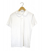 COMME des GARCONS COMME des GARCONS(コムデギャルソンコムデギャルソン)の古着「プリーツポロシャツ」|ホワイト