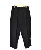 N.HOOLYWOOD(ミスターハリウッド)の古着「2タックワイドパンツ」|ブラック