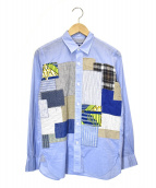CDG JUNYA WATANABE MAN(コムデギャルソンジュンヤワタナベマン)の古着「パッチワークシャンブレーシャツ」 ブルー