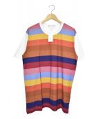 COMME des GARCONS SHIRT(コムデギャルソンシャツ)の古着「マルチカラーストライプTシャツ」|マルチカラー