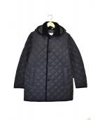 Traditional Weatherwear(トラディショナルウェザーウェア)の古着「ダービーフーデッドキルティングコート」 グレー