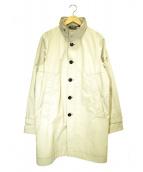 PEUTEREY(ビューテリー)の古着「スタンドカラーコート」|ベージュ