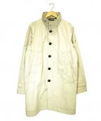 PEUTEREY(ピューテリー)の古着「スタンドカラーコート」 ベージュ