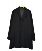 YohjiYamamoto pour homme(ヨウジヤマモトプールオム)の古着「ウールギャバジンロングチェスターコート」|ブラック