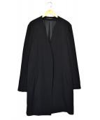 YohjiYamamoto pour homme(ヨウジヤマモトプールオム)の古着「ノーカラーコート」|ブラック