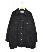 ROPE mademoiselle(ロペマドモアゼル)の古着「シャギーCPOジャケット」 ブラック