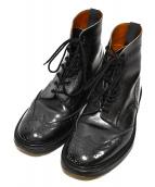 Tricker's(トリッカーズ)の古着「モールトンカントリーウィングチップブーツ」|ブラック