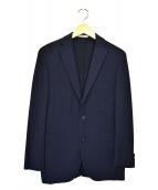BOGLIOLI(ボリオリ)の古着「コットン鹿の子3Bジャケット」 ネイビー