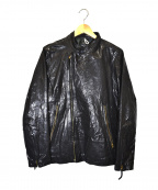 Paul Smith JEANS(ポールスミス ジーンズ)の古着「ラムレザーダブルライダースジャケット」|ブラック