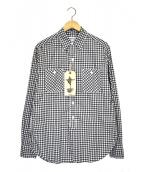 SASSAFRAS(ササフラス)の古着「スプレイヤーチェックシャツ」|ホワイト×ブラック