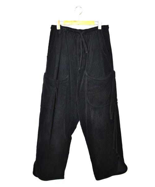 SYU.(シュウ)SYU. (シュウ) リラックスコーデュロイパンツ ブラック サイズ:1 Relax Corduroy Pantsの古着・服飾アイテム