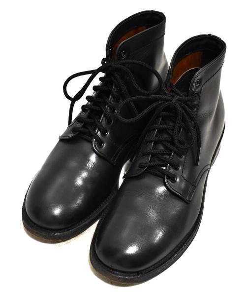 ALDEN × THE REAL McCOY'S(オールデン×リアルマッコイズ)ALDEN × THE REAL McCOY'S (オールデン×リアルマッコイズ) レザーブーツ ブラック サイズ:7 4547の古着・服飾アイテム