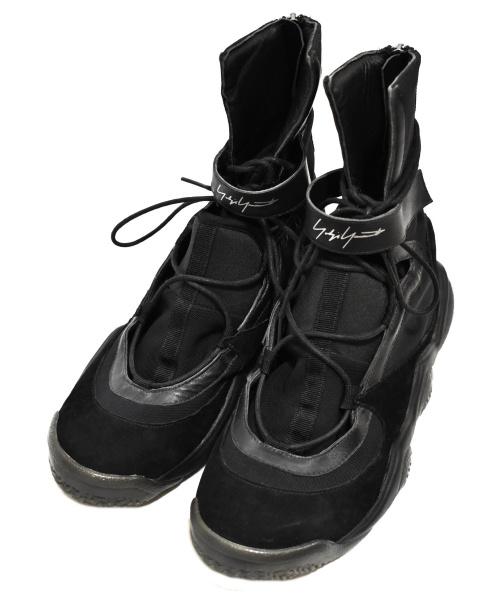 YOHJI YAMAMOTO FEMME(ヨウジヤマモトファム)YOHJI YAMAMOTO FEMME (ヨウジヤマモトファム) スニーカー ネイビー×ブラック サイズ:27cm YY STRAP BBALL HIGH BB3808の古着・服飾アイテム