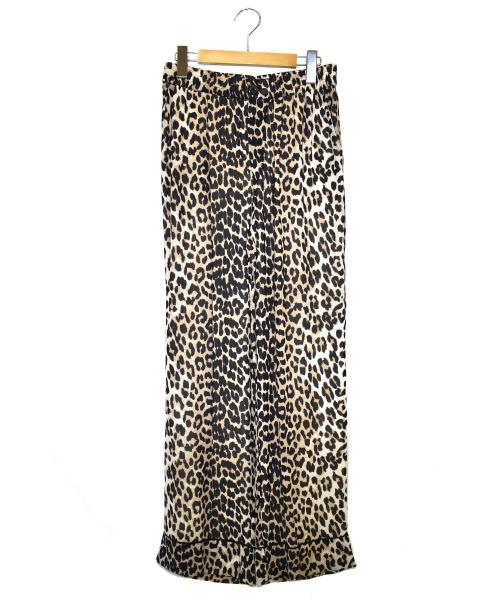 GANNI(ガニー)Ganni (ガニー) レオパードイージーパンツ ベージュ サイズ:34 未使用品の古着・服飾アイテム