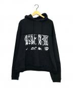 M+RC NOIR(マルシェノア)の古着「ウェーブロゴパッチプルオーバーパーカー」|ブラック
