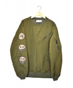 roarguns × AVIREX(ロアーガンズ×アヴィレックス)の古着「プルオーバーMA-1ジャケット」|オリーブ