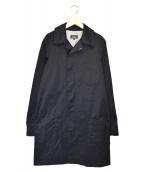 A.P.C.(アーペーセー)の古着「比翼ボタンチェスターカラーコート」|ブラック