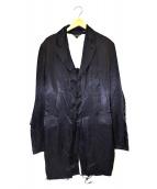 COMME des GARCONS(コムデギャルソン)の古着「ポリ縮絨ロングテーラードジャケット」 ブラック