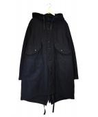 Engineered Garments(エンジニアードガーメンツ)の古着「ウールフーデッドコート」|ブラック