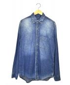 AT LAST&CO(アットラストアンドコー)の古着「ボタンダウンシャツ」|スカイブルー