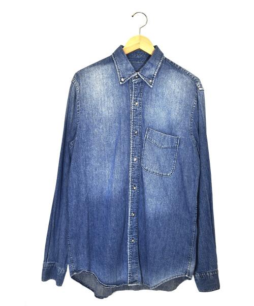 AT LAST&CO(アットラストアンドコー)AT LAST&CO (アットラストアンドコー) ボタンダウンシャツ スカイブルー サイズ:S LOT102の古着・服飾アイテム
