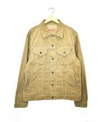 IRON HEART(アイアンハート)の古着「サマーコーデュロイトラッカージャケット」|ブラウン