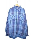 UNUSED(アンユーズド)の古着「チェックネルシャツ」|ブルー×パープル