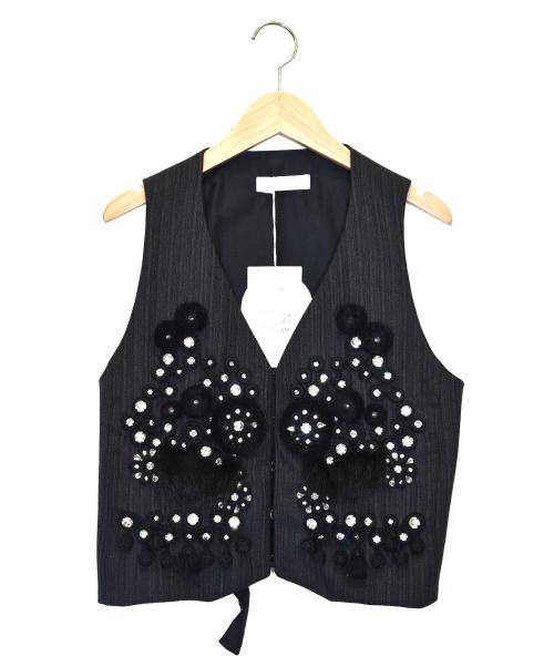 Chloe(クロエ)Chloe (クロエ) デザインビジューベスト ブラック サイズ:36の古着・服飾アイテム