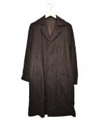 Y's(ワイズ)の古着「シワ加工ウールコート」|ブラウン