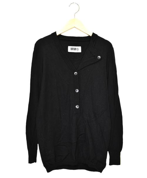 MM6(エムエムシックス)MM6 (エムエムシックス) ボタンダウンニット ブラック サイズ:S S32HA0259の古着・服飾アイテム