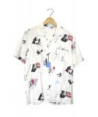 Porter Classic(ポータークラシック)の古着「フィルムノワールアロハシャツ」|ホワイト