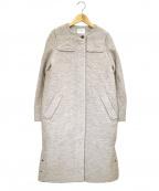 HUMAN WOMAN(ヒューマンウーマン)の古着「スライバーロングコート」|グレー