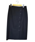 自由区(ジユウク)の古着「フロントボタンタイトスカート」|ブラック